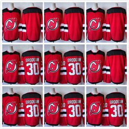 Wholesale Nj Hockey Jersey - 2016 Mens NJ New Jersey Devils #30 Brodeur Red Black White Green Hockey Jerseys New and Cheap wholesale prices free shipping mix order
