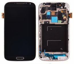 Wholesale Siv S4 - With mid-frame For Samsung Galaxy S4 i9505 SIV LCD Digitizer Full Assembly Original LCD Display Touch Screen Glass Tactil Ecran