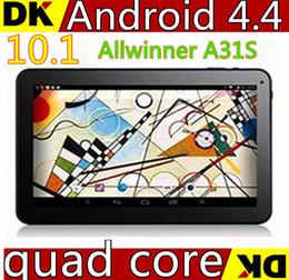 Tablette pc a31s en Ligne-Arrivée 10inch A31S Google quad core tablet PC Android 4.4 Tablet pc 1G RAM 8 GB 16 GB ROM bluetooth HDMI double caméra 5500 mah batterie