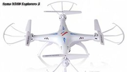 Wholesale Syma Rc Helicopter Free Shipping - Drones SYMA X5SW WIFI RC Drone FPV Helicopter Quadcopter with Camera 2.4G 6-Axis Real RC Helicopter Toy Free Shipping.