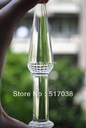 2019 brinquedo de varinha de cristal Magro fino cristal Sheer pyrex Dildos Anal butt plug Brinquedos do sexo para mulheres dos homens produtos para Adultos Feminino masturbação realce