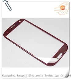 Wholesale Oem Glass For S3 - Wholesale-OEM high quality front glass for samsung s3 i9300 front glass grey blue with free shipping with logo
