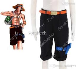 Wholesale Ace Games - Wholesale-One piece Portgas D Ace Cosplay Costume pants