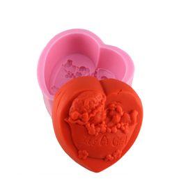 Wholesale Soap Mold Bear - Free Shipping Bear Girl Shaped Handmade Soap Mold Cake Decoration Fondant Cake 3D Mold Food Grade Silicone Cake Mold Q155