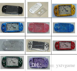 Wholesale Replacement Game Cases - Free Shipping For PSP 3000 PSP3000 Game Console replacement full housing shell cover case with buttons kit