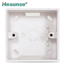 Wholesale Plastic Wall Box - DH-MZ1A Single Plastic Surface Mounting Switch Box For Wall Switch Standard 86 mm x 86 mm