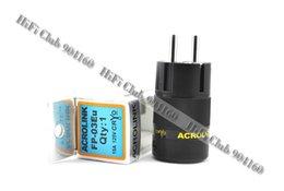 Wholesale Eur Power Plug - Brand New Hi End Acrolink FP-03Eu Rhodium plated EUR AC power plug 1PCS