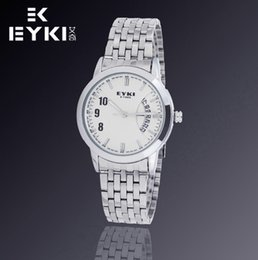Wholesale Eyki Watches Overfly - Wholesale-EYKI OVERFLY Branded luxury business watch men stainless watches Men's Casual Watches Auto Date Japan Movt Quartz Wathes