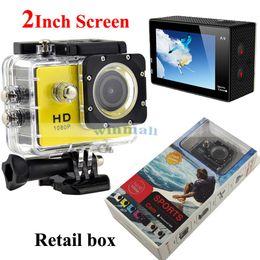 Wholesale Sports Hd Waterproof Dv Camera - SJ4000 style A9 2 Inch LCD Screen 1080P Full HD Action Camera 30M Waterproof Camcorders Helmet Sports Mini DV Car DVR