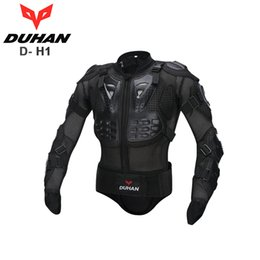 Wholesale Motorcycle Body Back Armor Spine - DUHAN Motorcross Racing Full Body Armor Spine Chest Protective Jacket Motorcycle Riding Body Protection Gear Guards Back support