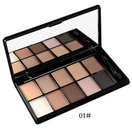 зеркало для теней для век Скидка дымчатый палитра косметических 10 цветов матовый блеск пигмент палитра теней для век с теней макияж кисти и зеркало