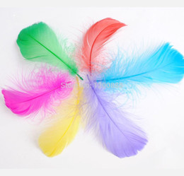 """Wholesale Chicken Feathers - 600Pcs 3-5"""" Goose Feathers Mixed Colors 4F076"""