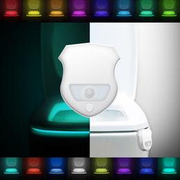 Wholesale Red Light Sensors - 16-Color Motion Sensor LED Toilet Light,Motion Activated Toilet Night light, Auto Motion Activated Sensor Colorful Nightlight