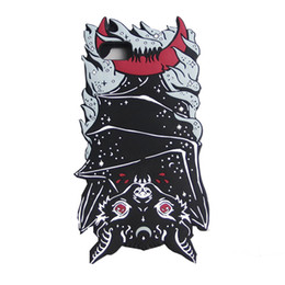 Wholesale Iphone Bat - Newest Fashion 3D vampire bat soft silicone case cover For Iphone 6 6S plus 7 8 plus Hot cartoon animals monsters shell
