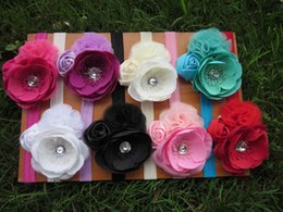 Wholesale Baby Shabby Flower Headbands - New design Kids headband rose flower baby headband shabby headband cute headband for girl hair accessory 8pcs lot free shipping