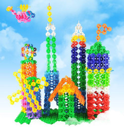 Wholesale Snowflake Blocks - Snowflake Building Blocks Toys Children Christmas Educational Snowflake Puzzle Jigsaw Blocks Toys for Boys and Girls