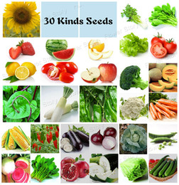 Wholesale Kinds Plants - 4750 Vegetable Fruit Survival Non-GMO Seeds 30 Kinds DIY Home Garden & Kitchen Plant Health & Fun Free Shipping