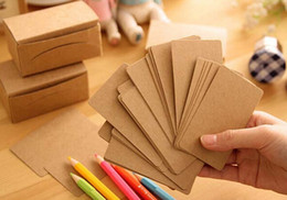 Wholesale Memo Pad Vintage - Wholesale- 9*5.4cm Blank Retro DIY Brown Paper Cardboard Kraft Vintage Label Host Note Memo Card Pads FREE SHIPPING