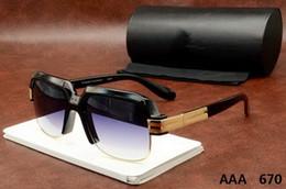 Wholesale Frame Sizes - 670 Eyewear New Fashion Black Oversized Sunglasses Men Square Glasses for Women Big Size Hip Hop Retro Sun Glasses Vintage Gafas Oculos