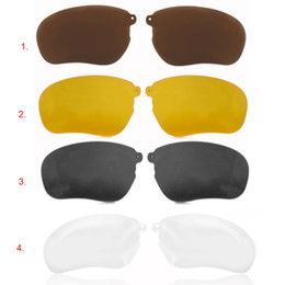 Wholesale Clips For Sunglasses - Wholesale-1 Pair Polarized Clip for THB-368 Wireless Bluetooth Sunglasses Headset Night Vision Lens Anti-UV Sun Glasses Replacement Lenses