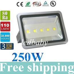 Светодиодные фонари навеса онлайн-250 Вт 30000LM светодиодные прожекторы водонепроницаемый открытый светодиодные фонари навес освещение АЗС светодиодные прожекторы переменного тока 85-265 в + гарантия 5 лет