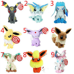 Wholesale Pokemon Umbreon Vaporeon - 2015 new Poke plush toy Eevee Espeon Flareon Espeon Glaceon Jolteon Umbreon Vaporeon Leafeon Stuffed Doll Plush Toy n,j[i-[