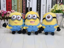 Wholesale Despicable Plush 7inch - 18pcs Lot (1set=3pcs )Despicable Me 2 7inch Despicable Me Minion Jorge Stewart Dave NWT with tags 3D eyes 1206#06