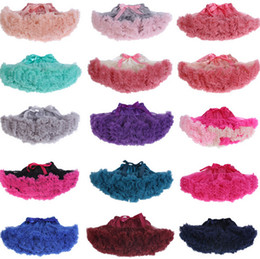 Wholesale Baby Girls Fluffy Pettiskirt - Halloween christmas tutu skirt baby girls chiffon fluffy pettiskirts tutu prince pettiskirt tutu dance party ballet dance girls skirt