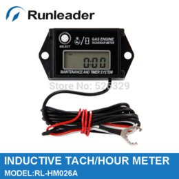 Wholesale Rev Gauge - Free shipping Waterproof Rev Counter Tacho Meter tachometer hour meter for outboard off road counter program