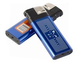 Wholesale Dvr Q8 - Q8 mini lighter cameras Blue Mini HD DVR Spy Lighter Hidden Pinhole Camera USB Video Recorder listen device