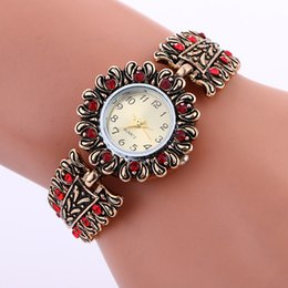 Wholesale Wholesalers For Rings Watches - Fashion Ruby ring of the sun flower Watches Women Quartz Wrist Watches Wing Butterfly diamonds watch for women free shpping