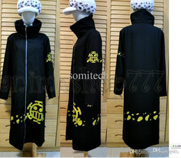 Wholesale Xxl Jackets Low Price - Wholesale-One Piece Trafalgar Law Coat jacket Hat 2 years later Cosplay Costume Lowest price