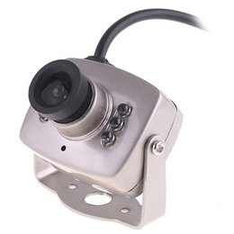 Wholesale Wired Mini Camera - Super Wired CMOS Mini Security Camera Monochrome Color Free Shipping