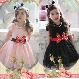 Wholesale Dress Polka Dot Pink Girls - 2015 Summer New Girl Dress QZ157 Polka Dot Red Bowknot Fashion Dress 2-7T Not Have Necklace