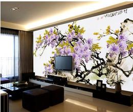 Il paesaggio diretto online-Grande murale carta da parati papel de parede cinese paesaggio murales adesivi murali muro adesivo all'ingrosso Factory Direct 20152201