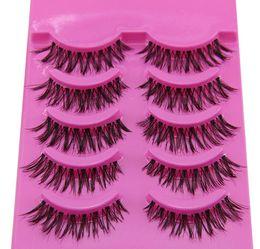 Wholesale Perfect Eyelashes - 2016 Hot Sale 5 Pairs Box Makeup Handmade Fashion Cosmetic False Eyelashes Natural Cross False Eyelashes Perfect Eyelashes Free Shipping