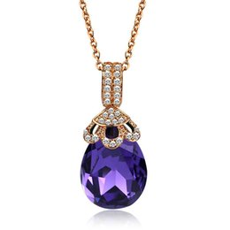 Wholesale Crystal Factory Outlet - US-art European and American jewelry Swarovski Austrian crystal necklace jewelry alloy factory outlets
