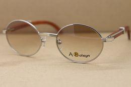 Wholesale Vintage Wood Decor - Hot 7550178 Wood Sunglasses Vintage Unisex Sun Glasses Decor Wood frame designer Sunglasses Frame Size:55-22-140mm