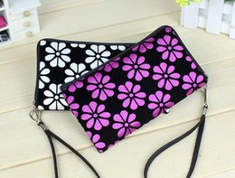 Wholesale Pattern For Coin Purse - Chinoiserie Lady Coin Wallet Flower Pattern Women Accessories Nylon Wallets For Phone Coin Change Power Bank