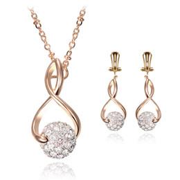 Wholesale 925 Abalone Earring - Europe Jewelry Set Custom 925 Silver Diamond Jewelry Necklace Earrings Sets Wedding Party Bride Jewelry For Girl Women
