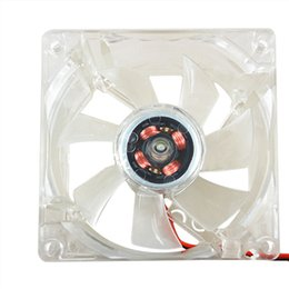 Wholesale Lights For Chassis - Wholesale-8025 Clear 8cm with LED Lights Chassis Cooling Fan for PC Computer Case Cooler 5G46 7CK9