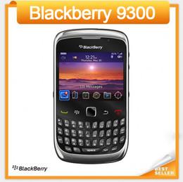 Обновленные мобильные телефоны qwerty онлайн-Оригинал 9300 разблокирован Blackberry 9300 кривая сотовый телефон восстановленные 3G WIFI GPS QWERTY клавиатура