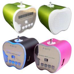 Wholesale Apple Mini Speakers Portable Usb - portable mini speaker box wireless subwoofer T 2012 hifi led apple speaker rechargeable outdoor speaker fit tf card usb music iphone MIS049