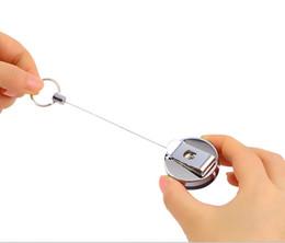 фиктивный мобильный телефон Скидка 1pc Нержавеющая сталь Инструмент Пояс Деньги Выдвигающийся ключ Кольцо отдачи Кольцо Цепной клип Keychain key Chain Drop Shipping Wholesale