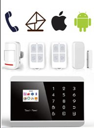 Wholesale Dual Pstn Gsm Wireless Alarm - IOS Android APP Wireless GSM PSTN alarm Dual Net Auto Dial Home Security Voice Burglar Alarm System LCD Touch keypad