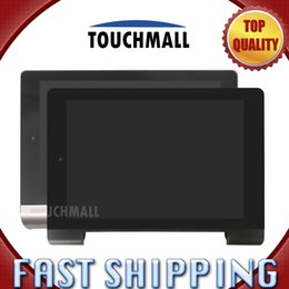 Wholesale Tablet Replacement Screen Lenovo - Wholesale- For New LCD Display Touch Screen with Black Silver Frame Assembly Replacement Lenovo Yoga Tablet 8 B6000 8-inch Free Shipping