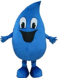Wholesale Drop Mascot Costume - WR210 free shipping a blue adult water drop mascot costume for adult to wear for sale