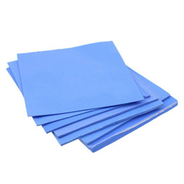 Wholesale Thermal Sheets Wholesalers - Wholesale-2Pcs 100mm * 100mm * 1.5mm 0.33ft Conductive Silicon Rubber Sheet Flame Retardant Thermal Pad