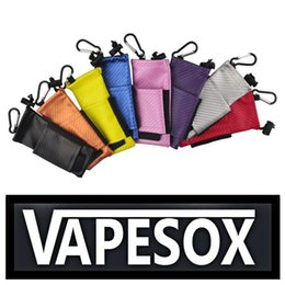 Wholesale Carring Case Bag - 2015 Hot Sell Colorful ecig carry pouch bag PU Leather Carring pouch eGo Box Case Pouch with Hook Vape Sox for Mechanical