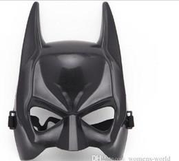 Wholesale Movie Theme - dhl free send 100pcs Batman Masks Halloween Cosplay Costume Movie Themes Half Face Mask the dark knight rise